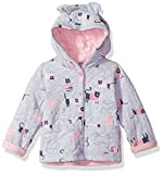 Joules Baby Girls' Cuddle Sweat Cover Up, Grey Marl Cat, 6-9