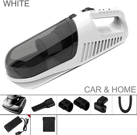 Danniers Aspiradora de Coche 12V, Aspirador de Mano Potente, Portátil Aspiradores para Vehículos, Limpiador de Seco o Húmedo (Color : Blanco): Amazon.es: Hogar