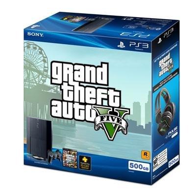 PS3 500GB GTA V Bundle (99238) - (Ps3 500gb Grand Theft Auto V Bundle)