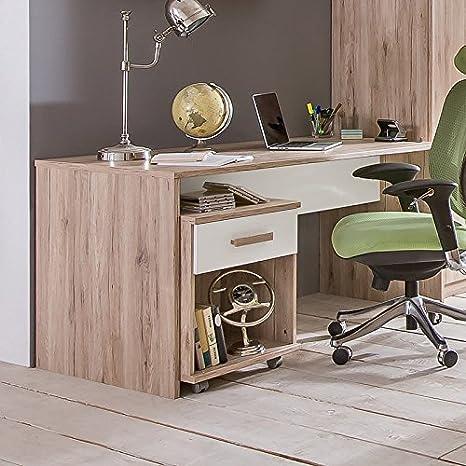Kinderzimmer Schreibtisch & Rollcontainer San Remo Eiche ...