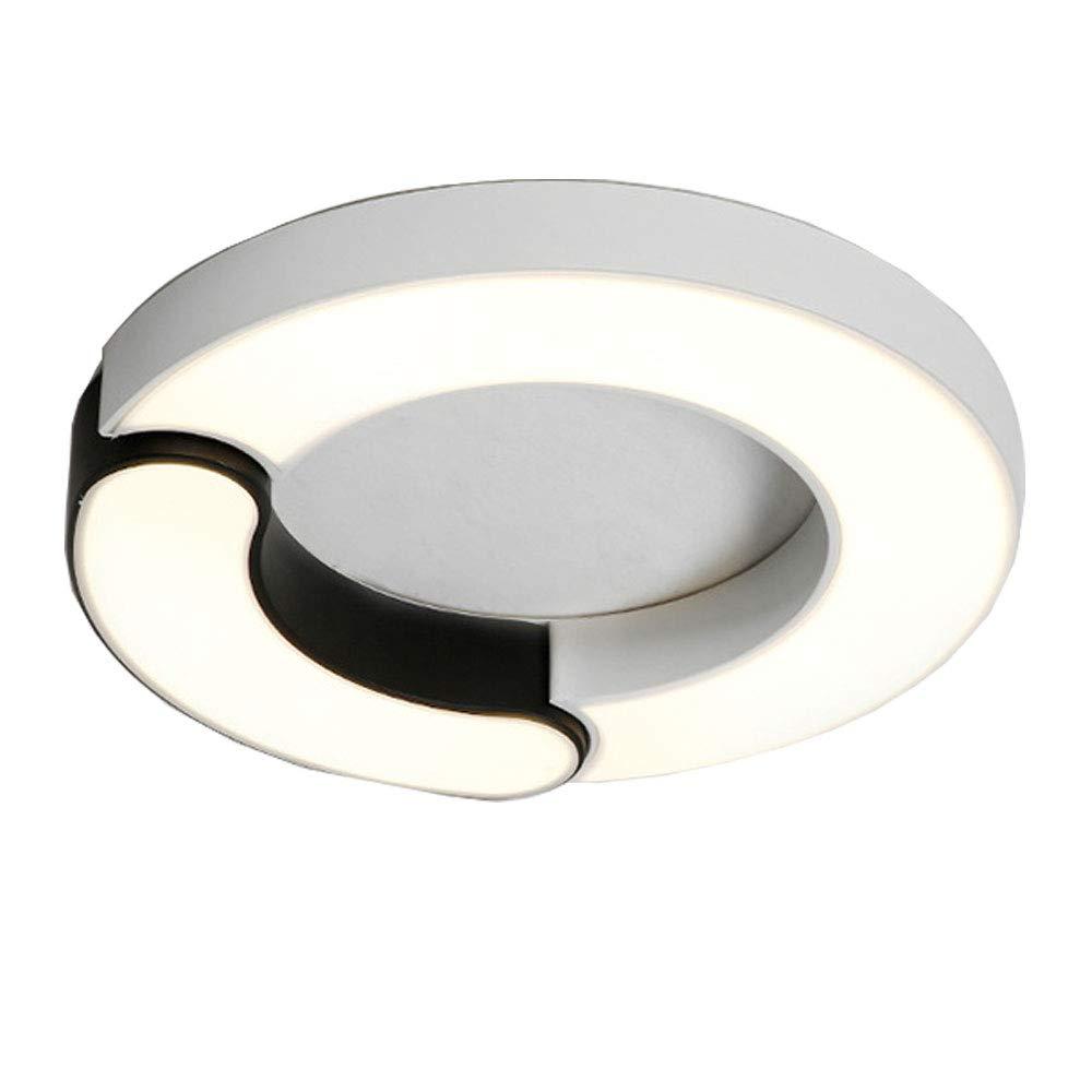 Wandun Deckenleuchte, Kreative LED Deckenleuchte einfache Moderne Atmosphäre zu Hause führte Wohnzimmer Zimmer Schlafzimmer warme Studie Schwarz-Weiß-Lampen (Farbe   Warmes Licht, Größe   60  7cm)