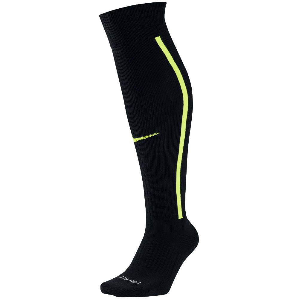 Nike Men`s Team MatchFit Core OTC Soccer Socks (Men's 6-8, Women's 6-10, Black(SX5732-011)) by Nike