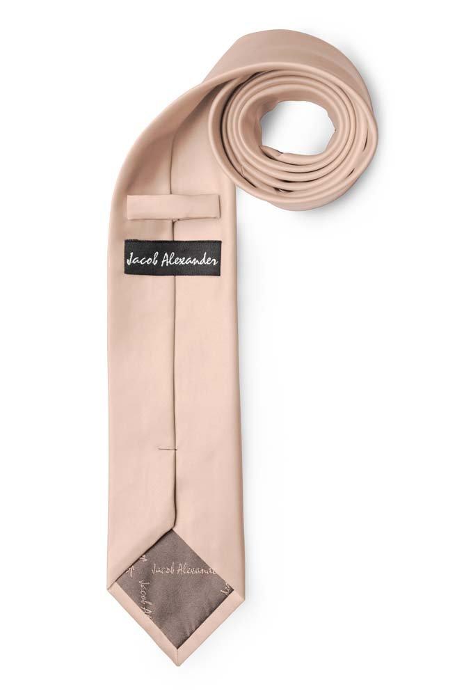 Jacob Alexander Mens Slim Width 2.75 Solid Color Tie Steel Blue