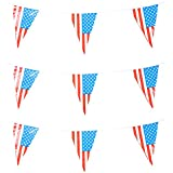 American USA Party Bunting / 4th of July & Independence Day (30m, Multi) by Rocking Party