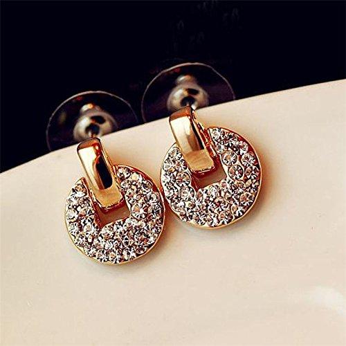 JENNIE SHOP Women Lady Filled Crystal Rhinestone Ear Stud Earrings Jewelry