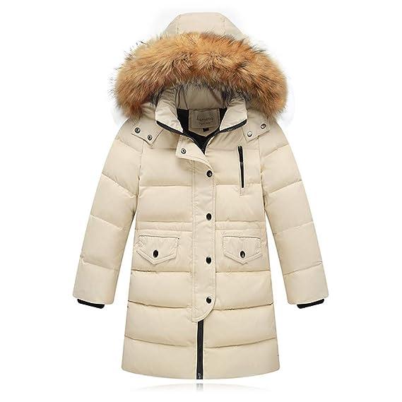 Amazon.com: Chaqueta de piel sintética con capucha de parka ...