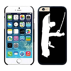 NEW DIY Unique Designed Case For Iphone 6 Bass fishing fisherman iPhone 6 Black 4.7 TPU inch Phone Case 028