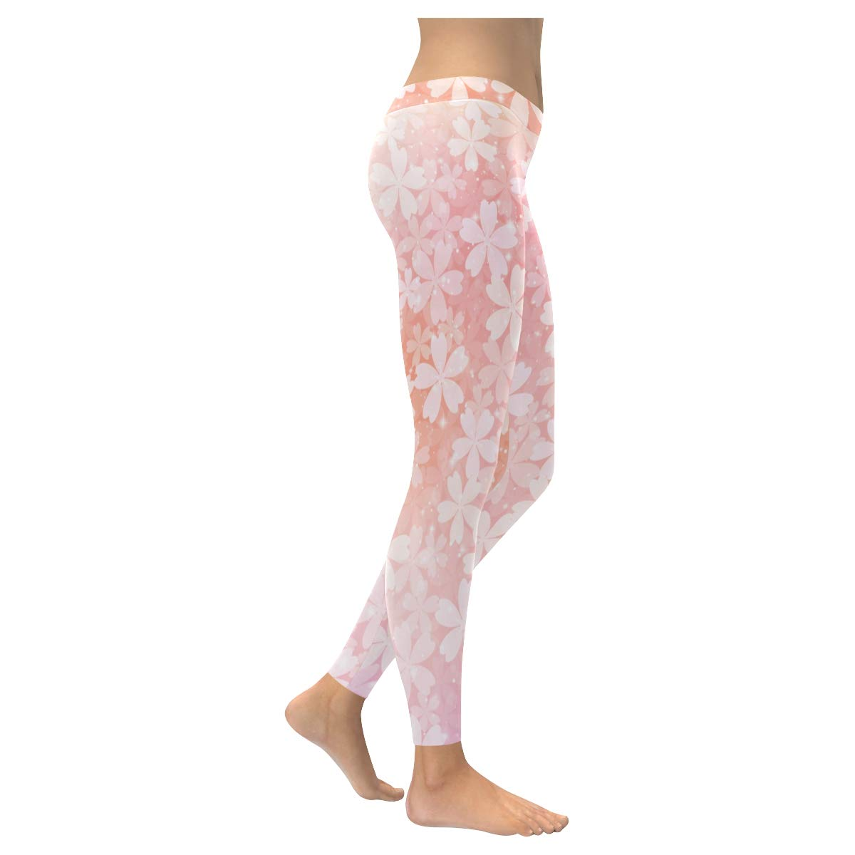 YPink Low Waist Comprrssion Leggings for Women Active Leggings Capri for Women Glitter