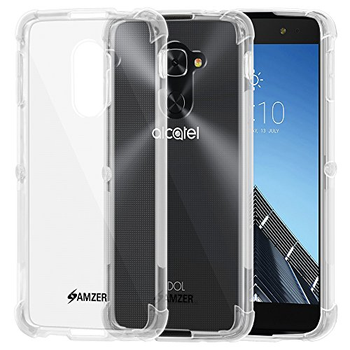 Amzer Slim TPU X Protection Case with Shock Dissipating Technology Skin for Alcatel Idol 4S - Clear