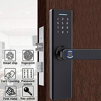 Amazon.com: Cerradura de puerta con huellas dactilares ...