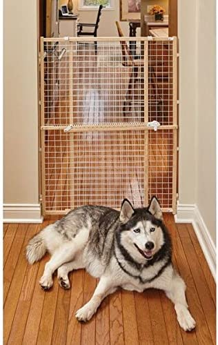 Midwest Wire Mesh Pet Safety Gate 44 Inches Tall /& Expands 29-50 Inches Wide