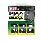 PIAA 10728 H13 (9008) Night Tech High Performance Halogen Bulb, (Pack of 2)