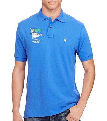 Ralph Lauren Polo Men's Nautical Flags Custom Fit Cotton Mesh Polo Shirt (Small, New - Shipping Free Polo