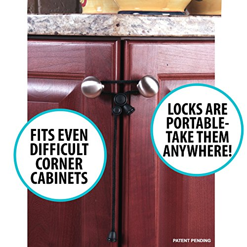 Locks For Kitchen Cabinets: Kiscords Baby Safety Cabinet Locks For Knobs Child Safety