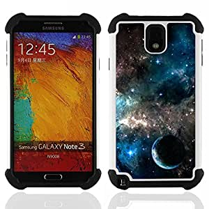 - galaxies universe sky stars planet nebula/ H??brido 3in1 Deluxe Impreso duro Soft Alto Impacto caja de la armadura Defender - SHIMIN CAO - For Samsung Galaxy Note3 N9000 N9008V N9009