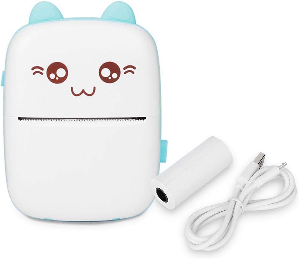 Atyhao Mini Impresora instantánea, Dibujos Animados sin Tinta Cámara de impresión térmica Impresora inalámbrica de Aprendizaje Bluetooth para niños niñas Estudiantes cumpleaños (Azul)