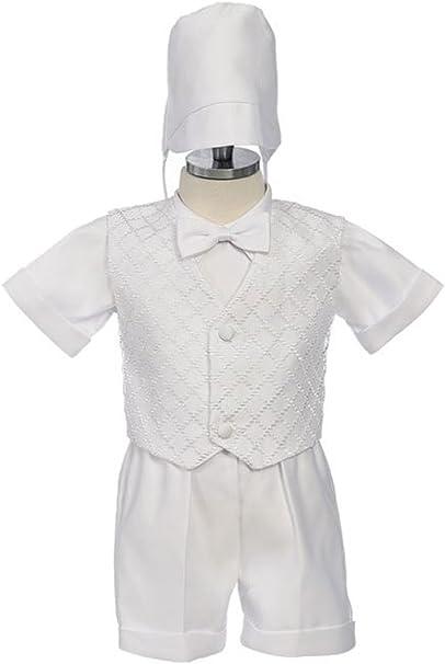 Rafael Boys White Baptism Outfit Rhinestud Complete Set