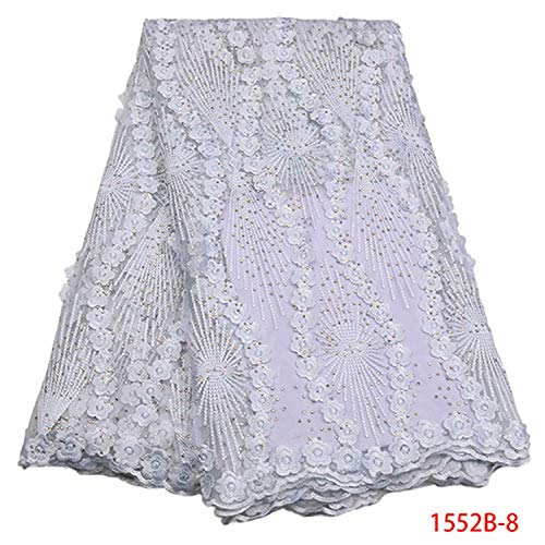 Memoirs- Nigerian Wedding Lace African Net Lace Fabric New Guipure Cord Lace Fabric with Stone French Lace Fabric Nice,Picture 8