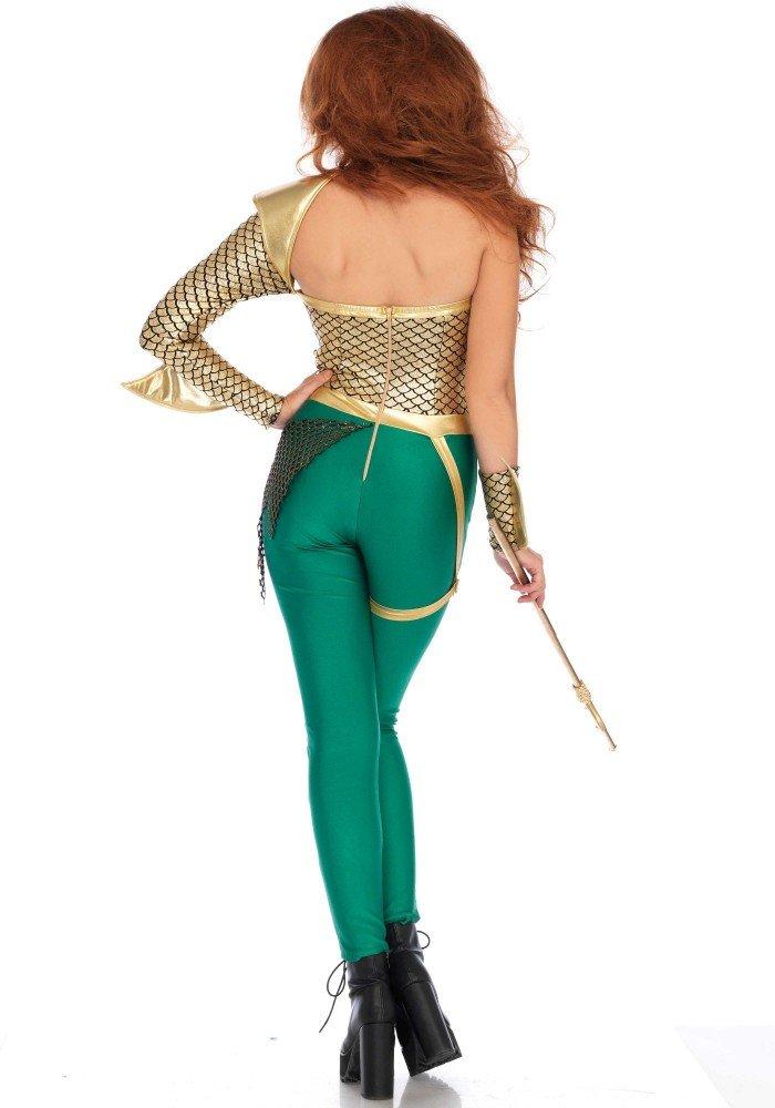 shoperama Aqua Warrior Poseidon Disfraz para Mujer De Leg Avenue mitología Diosa del mar Grecia Sexy: Amazon.es: Juguetes y juegos