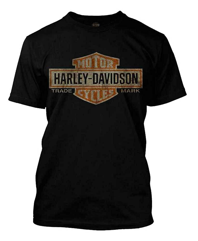7205669a Amazon.com: Harley-Davidson Men's Distressed Elongated Bar & Shield Black T- Shirt 30296553: Harley-Davidson: Clothing