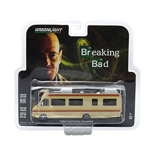 Greenlight Collectibles Breaking Bad 2008-13 TV Series - 1986 Fleetwood Bounder RV Vehicle (1:64 Scale) from Greenlight
