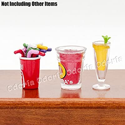 Odoria 1:12 Miniature 12pcs Metal Drinking Straws in Assorted Color Dollhouse Kitchen Accessories: Toys & Games