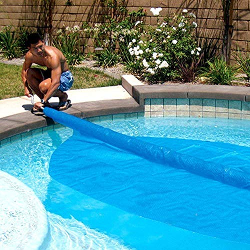Solar Roller Cover Stick (+3800 Sold) - Rolls Free Form Pools in Sections, Like Pieces of a Puzzle (Best Solar Pool Covers 2019)
