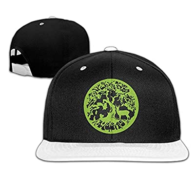 Earth Day Unisex Hiphop Flat Bill Snapback Hats Contrast Color Baseball Caps for Men