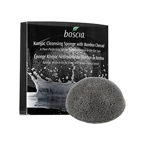 Boscia Konjac Cleansing Sponge with Bamboo Charcoal (Quantity of 1)