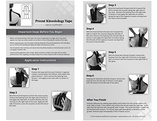 5 Pack - Kindmax Kinesiology Tape Precut Neck Support (Black) - K Tape for Neck Pain by Kindmax (Image #3)