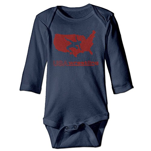 Cute & Baby USA Wrestling Printed Infant Baby Boy Girl Long-Sleeved Jumpsuits Playsuit Outfits by Cute & Baby