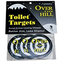 Big Mouth Toys Over The Hill Toilet Targets