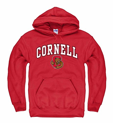 (Cornell Big Red Arch & Logo Gameday Hooded Sweatshirt - Red)