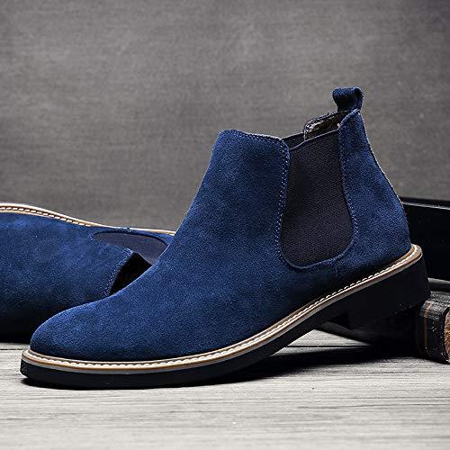 Ankle Boots Giardino Pioggia Blu Stivali Antiscivolo Donna Lavoro Gomma Wellington Bassi Chelsea Ragazza Sunnywill Stivaletti p7SwOq
