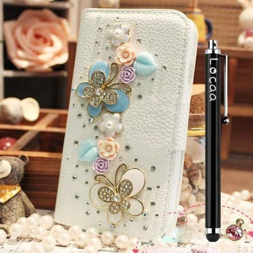 Locaa(TM) For Samsung Galaxy S7 Active 3D Bling Case 3 IN 1 Luxury Crystal Cute Diamond Rhinestone Bumper Leather Sales