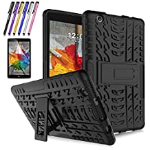 LG G Pad X 8.0 / G Pad III 8.0 Case, Mignova Hybrid Protection Cover Built-In Kickstand Skin Case For LG G Pad X 8.0 / LG GPad III 3 8.0 Inch Tablet + Screen Protector Film and Stylus Pen (Black)