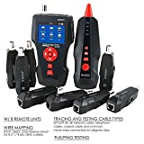 Network Cable Tester, AT226-C NF-8601W LAN Ethernet Cable Tester RJ45 UTP STP Diagnose Tone Tracer for RJ45, RJ11, BNC, PING/POE 8 Identifier Telephone Wire Tracker
