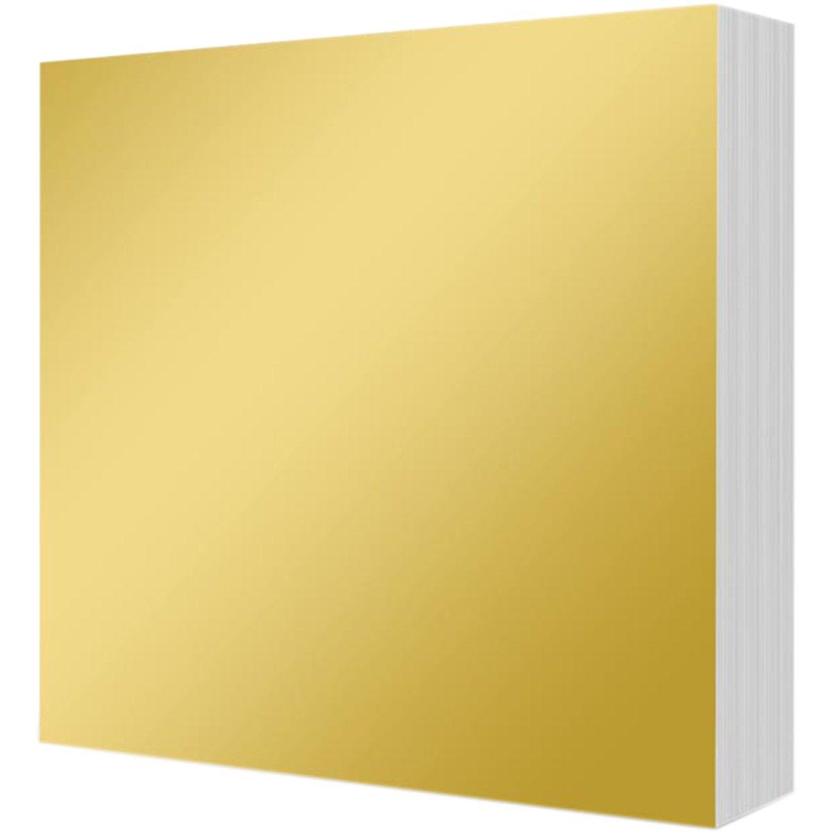 Hunkydory Mirri Matts 100 Mirri Sheets in Rich Gold 6x6' Mirror Board MCDM103 Hunkydory Crafts