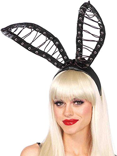 Leg Avenue Women's Oversized Bunny Ears Costume Accessory, Black, One Size ()