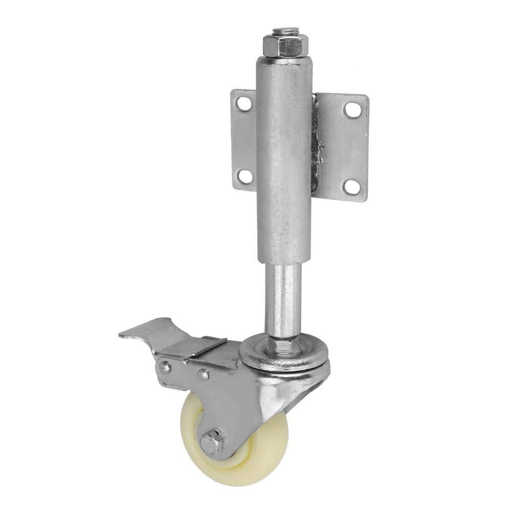 Schiebet/ür Torschaftrad gefederte 3-Zoll-Nylon-Lenkrolle mit Feststellbremse und einer Belastbarkeit von 220 lbs f/ür die Industrie