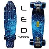RIMABLE Complete 22' Skateboard GalaxyFlashingWheels