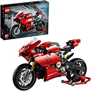 LEGO Technic Ducati Panigale V4 R 42107 Motorcycle Toy Building Kit, Build A Model Motorcycle, Featuring Gearb