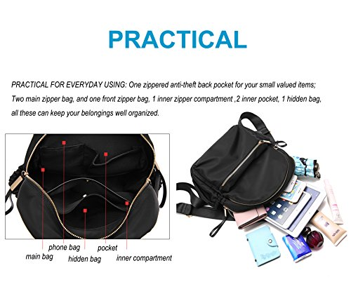 Wraifa Girls Backpack Bag Small Yl28 PU Leather School Women for for Waterproof Backpack Oxford Purse qwrPIzxwA