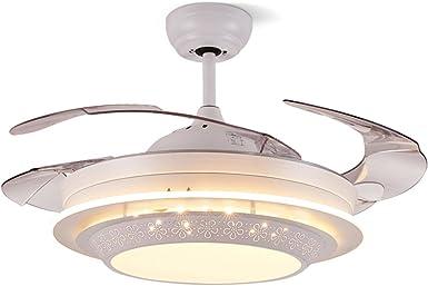 LED Fan Deckenventilator L/üfterlicht Mit Beleuchtung Fan Deckenleuchte Dimmbare Fan Deckenlampe Fernbedienung Ultra-Leise Kann Modernes Wohnzimmer Schlafzimmer Lampe