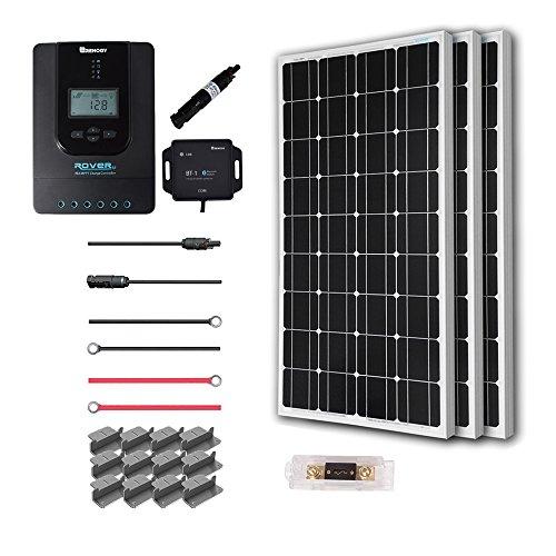 Renogy 300 Watt 12 Volt Off Grid Solar Premium Kit with Monocrystalline Solar Panel and 40A MPPT Rover Controller For Sale
