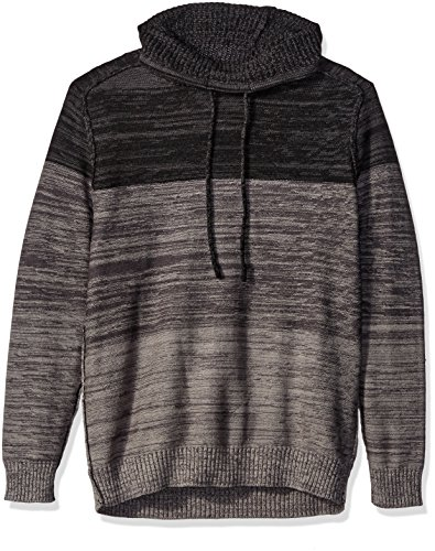Blizzard Bay Men's Color Block Cowl Neck Sweater, Grey/Black, Large by Blizzard Bay