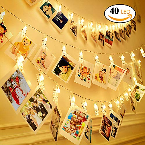 String Holder, 13.8 Feet Fairy, Battery Powered Decoration Lights Hanging Photos Pictures Cards Artwork(Warm White) ()