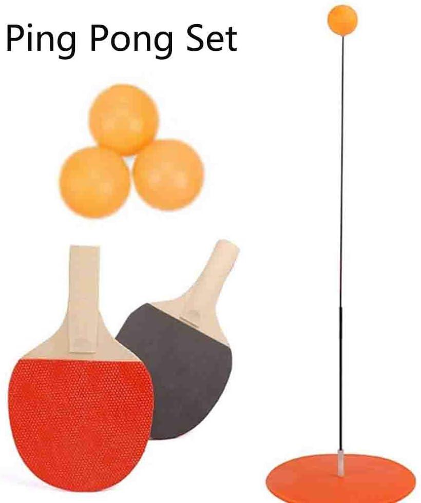 Juego de Ping Pong de Tenis de Mesa zhuangyulin6 Raquetas de Tenis de Mesa Juego de Palos y Pelotas para ni/ños Adultos Actividades al Aire Libre en Interiores Juego de Raquetas de Ping Pong