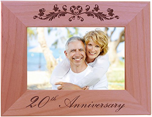 CustomGiftsNow 30th Anniversary - 4x6 Inch Wood Picture Frame - Great for friends, parents and ()