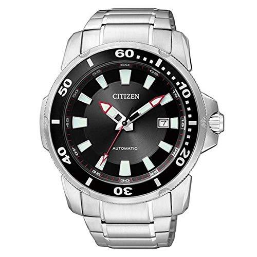 Citizen NJ0010-55E - Reloj analógico automático para Hombre con Correa de Acero Inoxidable, Color Plateado: Amazon.es: Relojes